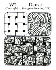 Dansk & W2 / weave tangle | • ❃ • ❋ • ❁ • tanglebucket • ✿ • ✽ • ❀ •: Tangle Remix, Vol. I + PUFFLE