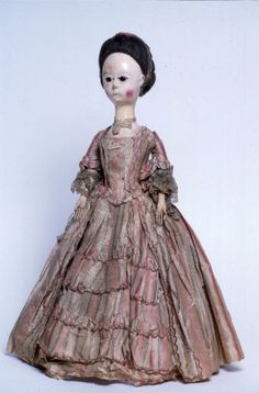 National Museum of Play:     Early Queen Anne  doll  1700-1799    Materialwood  OriginEngland  Object ID75.3093