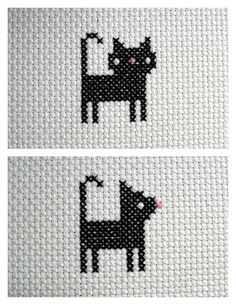 Cat #cross_stitch #embroidery