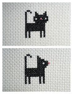 Cat #cross_stitch #embroidery