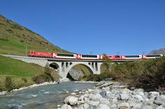 Glacier Express train route Switzerland