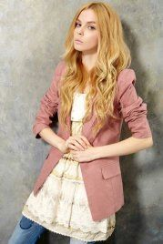 2012 Retro Dotted Slim Suit   sweet and charming