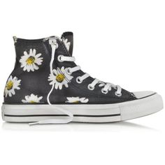 Converse Limited Edition Chuck Taylor All Star Black and Citrus Daisy... (410 PEN) ❤ liked on Polyvore featuring shoes, sneakers, converse, sapatos, high top canvas sneakers, high top shoes, black high tops, converse shoes and black high top sneakers