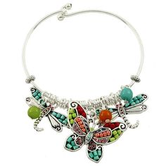 Butterfly & Dragonfly Charm Bracelet / Silver Plated / Lead CompliantFits wrist size up to Stylish, trendy and affordable bracelets to add the f Friend Bracelets, Bangle Bracelets With Charms, Silver Bracelets, Bangles, Dragonfly Jewelry, Beaded Jewelry, Jewellery, Turquoise Necklace, Nice Things