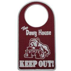 Mississippi State Bulldogs Embroidered Door Hanger  @Fanatics ®  #FanaticsWishList