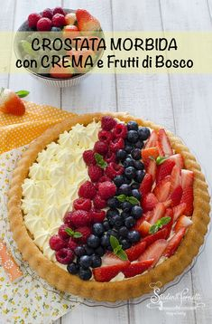 Italian Desserts, Mini Desserts, Easy Desserts, Pie Recipes, Baking Recipes, Dessert Recipes, Confort Food, Cheesecake Cake, Fruit Tart