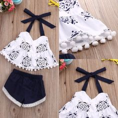 2 Piece Set Newborn Baby Girl Clothes  Price: 9.00 & FREE Shipping  #babybedding Baby Girl Vest, Baby Girl Newborn, Baby Dress, Baby Boy, Girls Summer Outfits, Baby Outfits, Summer Clothes, Fashion Kids, Girls Vest Tops