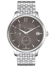 Tissot Watch, Mens Swiss Tradition Stainless Steel Bracelet 42mm T0636391106700 - Tissot - Jewelry & Watches - Macys
