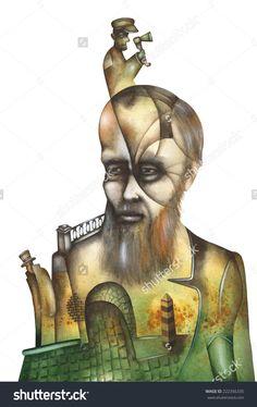 Dostoyevsky by Eugene Ivanov #fyodor #dostoyevsky #dostoyevsky #eugeneivanov #author #literature #russia #russian #writer #caricature #cartoon #literary_arts, #russian_writer #@eugene_1_ivanov #brothers_karamazov #crime_and_punishment #idiot #poor_folk #white_nights