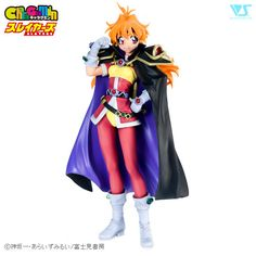 Calling all wizards, demons, bandits, and gods! What's that? You're just a fan of the Slayers light novel, anime and manga series? Well, I suppose this might interest you as well. It's Lina Inverse as a one-of-a-kind CharaGumin garage kit! This figure made history as the first in the unique CharaGumin figure kit series. In her signature pink outfit, unruly orange hair, and removable black and purp...