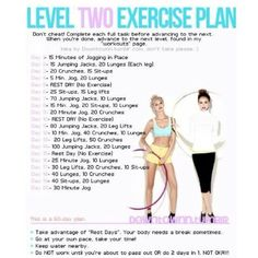 Level 2 excersise plan