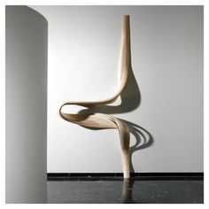 styletaboo: Joseph Walsh - Enignum Shelf VI [olive wood, ash and white oil finish, Ireland, Abstract Sculpture, Sculpture Art, Joseph Walsh, Wooden Art, Console, Installation Art, Sculpting, Contemporary Art, Art Pieces