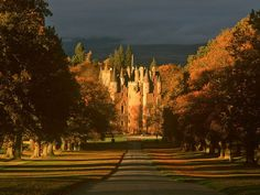 This castle sticks in my mind, from when I visited as an 8 year old. I should like to revisit those memories...   Glamis Castle, Scotland.