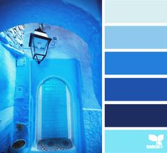 moroccan blues Color Palette by Design Seeds Design Seeds, Blue Colour Palette, Colour Schemes, Color Combos, Moroccan Blue, Color Harmony, Color Balance, Deco Design, Color Swatches