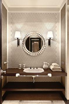 Фотография: Ванная в стиле Восточный, Эклектика, Дом, Дома и квартиры, светлое помещение, большая квартира, большое пространство – фото на InMyRoom.ru