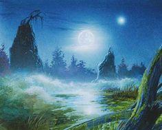 Bob Eggleton - Swamp - Mirage, 8th Edition, 9th Edition - 640x513 pixels