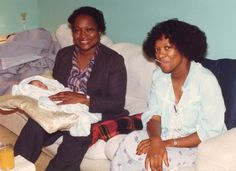 Rita Dove, running a fever, with her mother, who is holding Rita's four-day-old daughter Aviva.