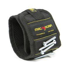 Magnetic Wristband - Black - MagnoGrip