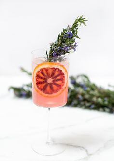 blood orange rosemary gin and tonic // recipe on craftandcocktails.co