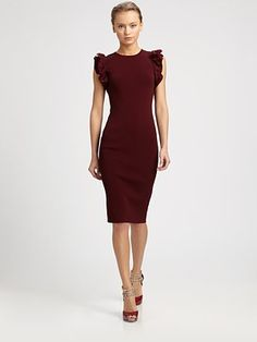 Valentino - Ruffle-Sleeve Dress -