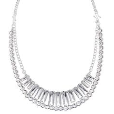 Create 3 great looks with this genuine silver-plated neck chain with two interchangeable tiered necklace layers for extra sparkle and drama: Faceted faux clear stones in a frontal style layer and silvertone chain with round clear beads, OR wear each alone OR pair the two together for a dynamic duo! Regularly $29.99, buy Avon Jewelry online at http://eseagren.avonrepresentative.com