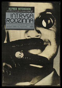 "Polish poster for the Alfred Hitchcock film ""Family Plot""."