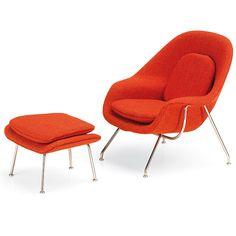 1/6 scale. Miniature Chair & Ottoman, Saarinen