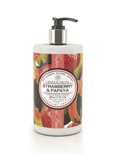 Tropical Fruits Hand and Body Lotion melts in to reveal instantly smoother skin with a subtly fruity fragrance. We've created a delicate formulation that is perfect for every-day use. This luxury lotion contains shea butter, avocado oil and coconut oil to moisturise dry skin and protect from environmental damage.Tropical Fruits Luxury Hand and Body Lotion is free from parabens and SLS.