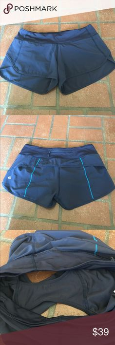 Lululemon Speed Shorts navy sz 6 Worn once just too big for me lululemon athletica Shorts