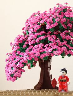Beautiful cherry blossom LEGO tree