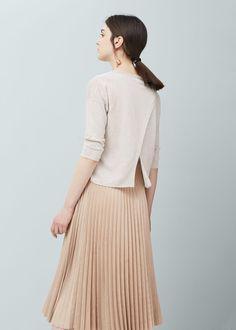 Linen sweater   MANGO