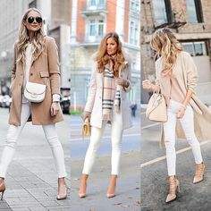 2019 Casual Fashion Trends For Women - Fashion Trends White Pants Outfit, Jeans Outfit Winter, Beige Outfit, Business Casual Outfits, Casual Fall Outfits, Classy Outfits, Chic Outfits, Autumn Outfits, Winter Fashion Outfits