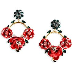 Dolce & Gabbana Earrings (103.280 RUB) ❤ liked on Polyvore featuring jewelry, earrings, accessories, red, pendant jewelry, red jewelry, dolce&gabbana, clip earrings and red earrings