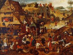 The Athenaeum - Flemish Proverbs (Pieter Brueghel the Younger - )
