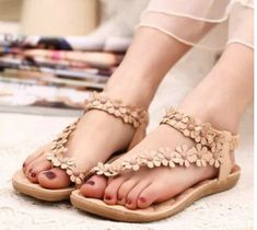 5de6be83e2 ITCQUALITY 2018 WOMEN SUMMER STYLE SANDALS FASHION PEEP TOW FLAT SHOES  ITC1304. - Sandals &