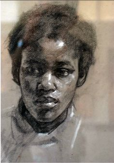 Robert Hannaford | charcoal and chalk portrait