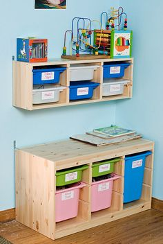 Ikea trofast for toy storage and Lego workspace