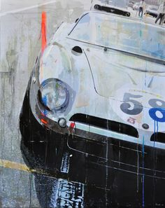 Prints and paint, but no photoshop. The founder of the excellent formfreu.de, Markus Haub, transforms vintage racing pictures into the coolest car art we've seen all year.