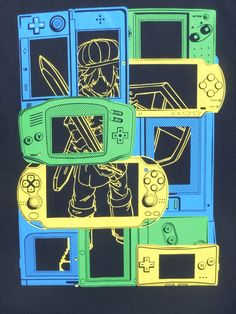 Gameboy shirt  ATARI shirt  Nintendo Shirt  by KenzanProducts