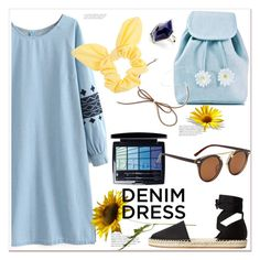 """Denim Dress"" by mycherryblossom ❤ liked on Polyvore featuring MANGO, Sugarbaby, Christian Dior, Dorothy Perkins and vintage"