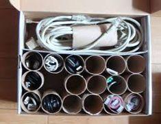 Résultats de recherche d'images pour «organising your cord with old toilet paper roll»