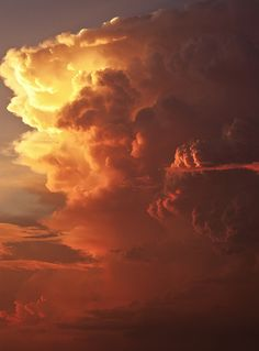 Fiery clouds and sky