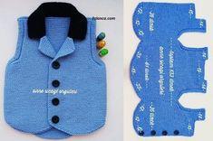 Erkek bebekler için yada erkek çocuklar için yapılan ve çok yakışan ata y. We wanted to remember with the construction of the black-collar ankle vest model, which is suitable for baby boys or boys and suits well. Quite Kleidung Knitting For Kids, Baby Knitting Patterns, Crochet For Kids, Knitting Designs, Baby Patterns, Baby Pullover, Baby Cardigan, Crochet Poncho, Crochet Yarn