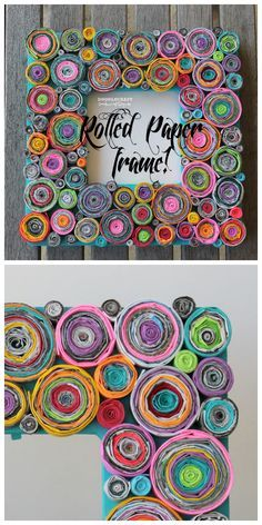 Upcycled Rolled Paper Frame #decoration #quilling #paper_craft