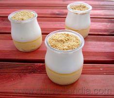 Mousse de yogur y crema Cake & Co, Doughnuts, Scones, Deserts, Pudding, Ice Cream, Chocolate, Fruit, Cooking