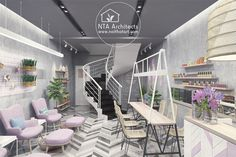 Thiết kế nội thất tiệm nails nhỏ xinh kết hợp spa ở trung tâm Q1