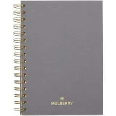 Mulberry A5 Notebook Ruled Paper (57 CAD) ❤ liked on Polyvore featuring home, home decor, stationery and white