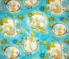 Springs Creative Fabric Disney Tinkerbell turq 1411