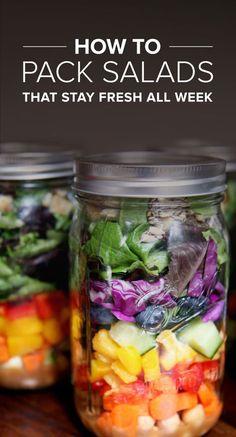 33 Healthy Mason Jar Salads - Fresh Salad All Week