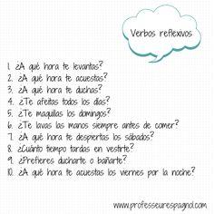 Actividad para trabajar los verbos reflexivos. A1
